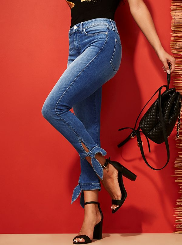09bf2c75ab 1981 High Rise Tie Cropped Skinny Jeans