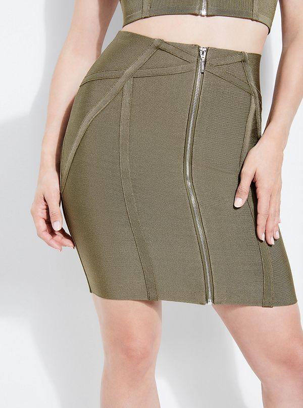 154e2a338a Mirage Maja Zip Bandage Skirt