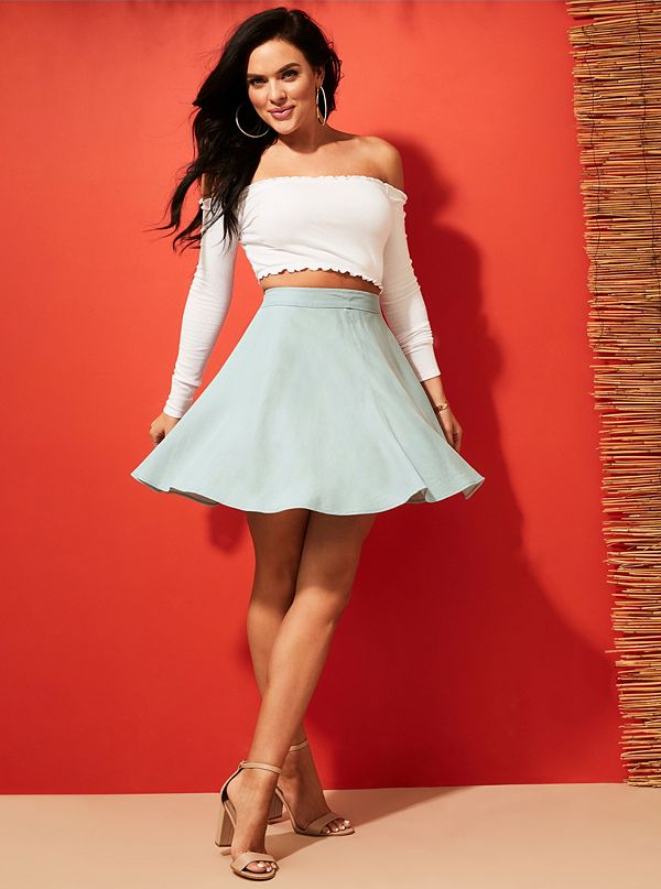 19aa9b3f47 Heidi Chambray Circle Skirt