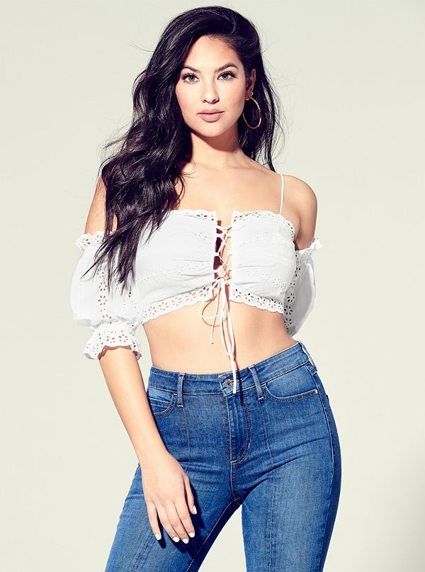 b1031061a14c94 W92H63R02F3 · best seller · Wildflower Eyelet Crop Top
