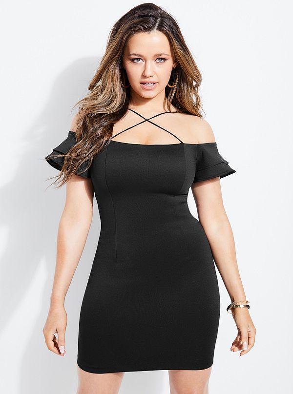 44a9c550deafb Charmaine Flounce Cold-Shoulder Dress