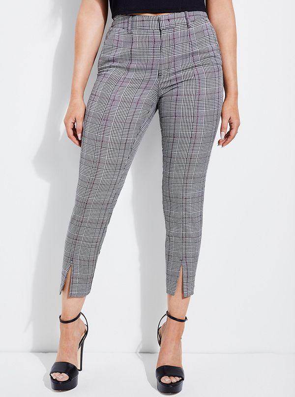 32d7b035bef073 Soledad Slim Plaid Pants