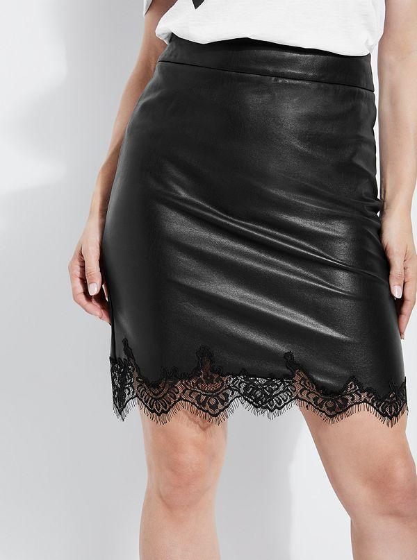 5670369a8873 Manuela Faux-Leather Pencil Skirt