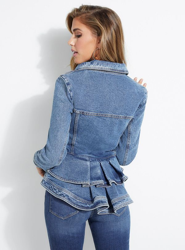 excellent quality distinctive design discount up to 60% Peplum Denim Jacket | GUESS.com