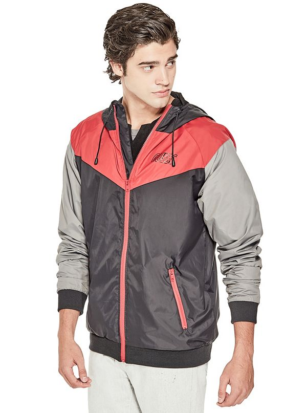 Guess men's philippe mesh jacket