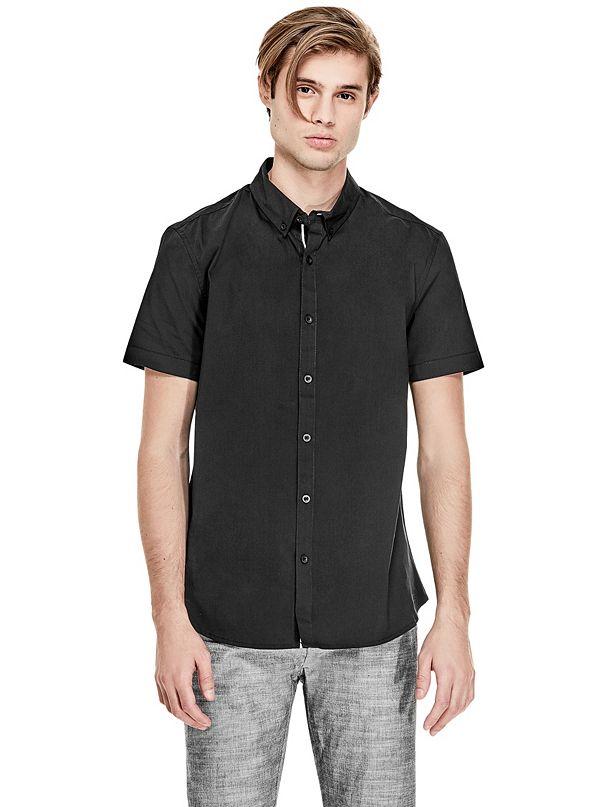 Men's Short Sleeve Button-Down Shirts | GUESS Factory