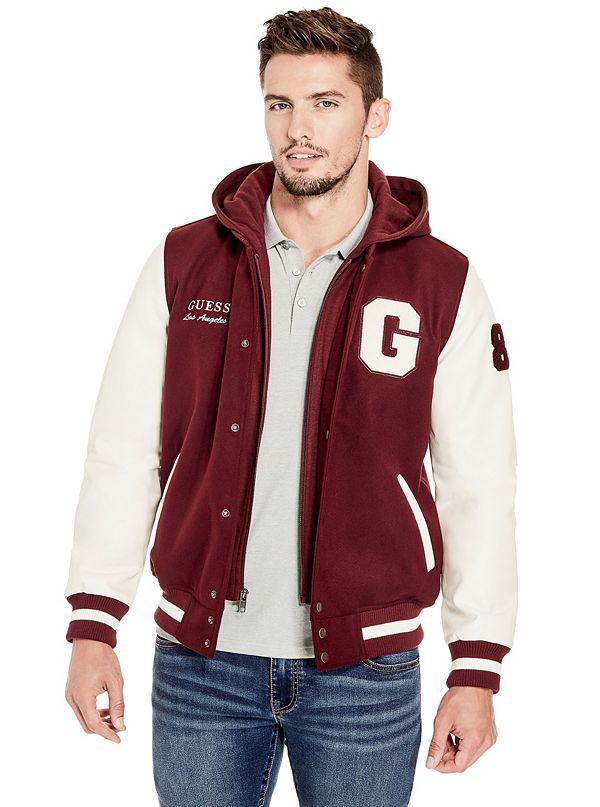 Ken Color Block Varsity Jacket Guessfactorycom