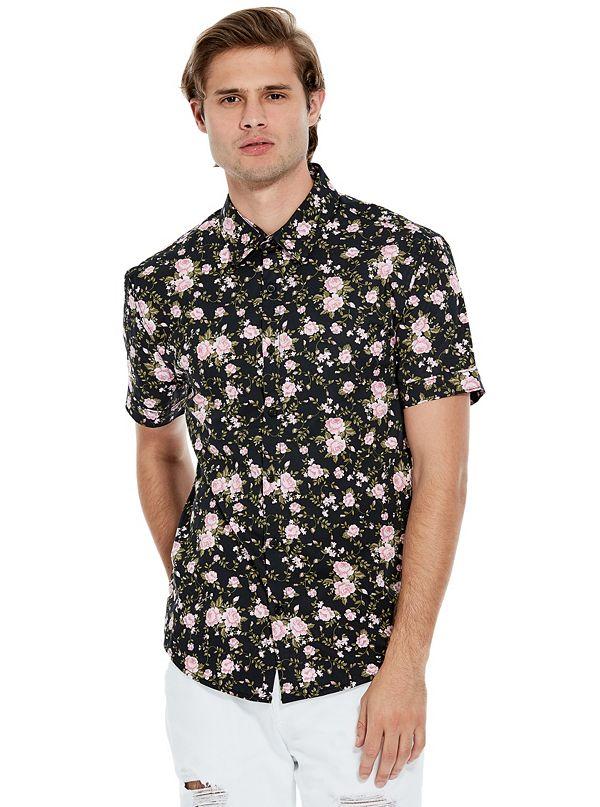 eb68c4f672fa Men's Button-Down Shirts | GUESS Factory