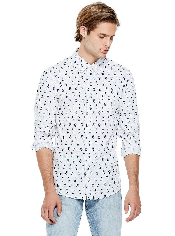 2851f77c96d2 Men's Long Sleeve Button-Down Shirts   GUESS Factory