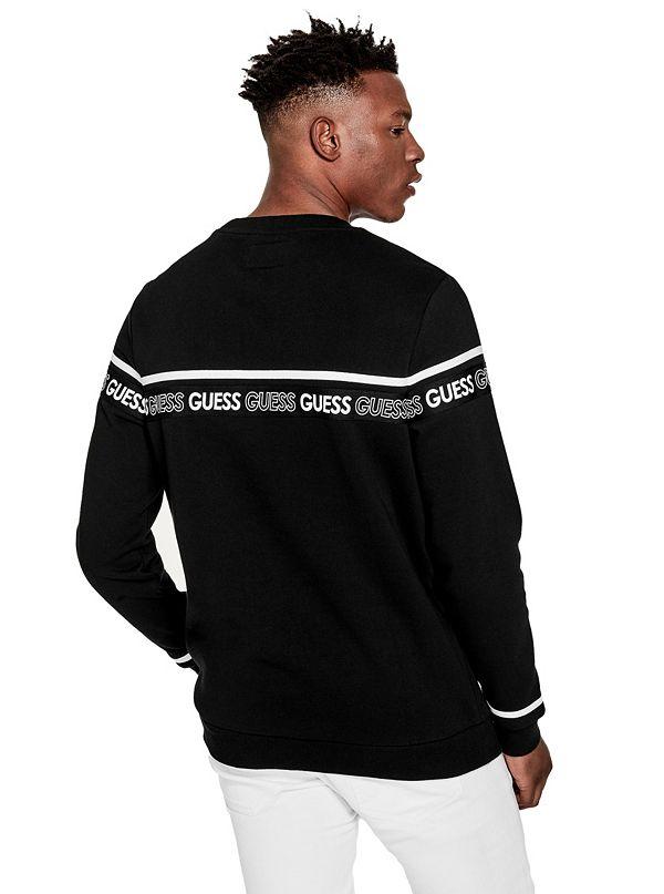 GUESS Factory Men/'s Axel Logo Sweatshirt