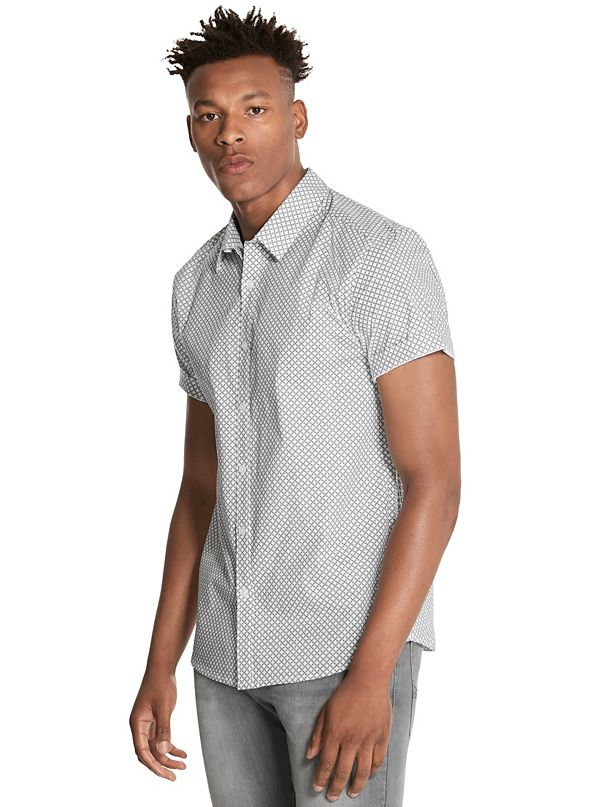 c98acbb3f493 Men's Button-Down Shirts | GUESS Factory