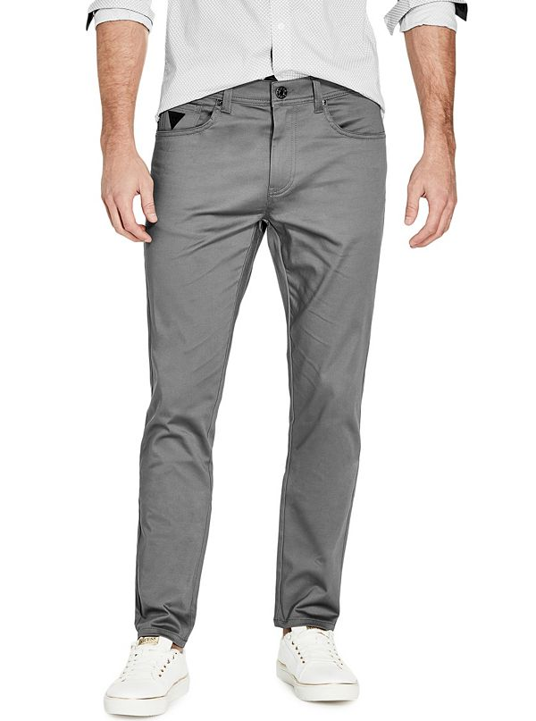 promo code arrives available Teddy Slim Straight Pants | GuessFactory.com