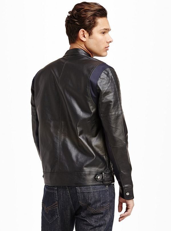 Archie faux leather jacket for Faux leather what does it mean