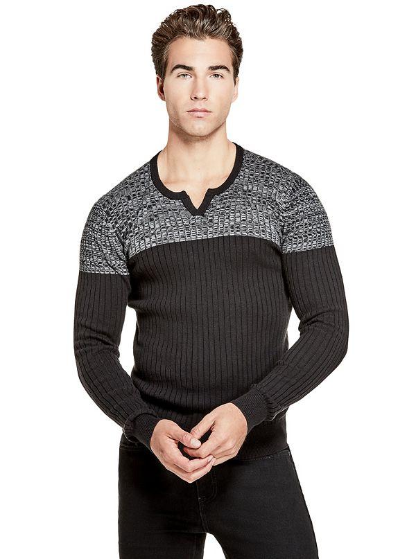 6037598e3c74d Z83R02R2A10 · Sale · Dublin Color-Block Slit Sweater