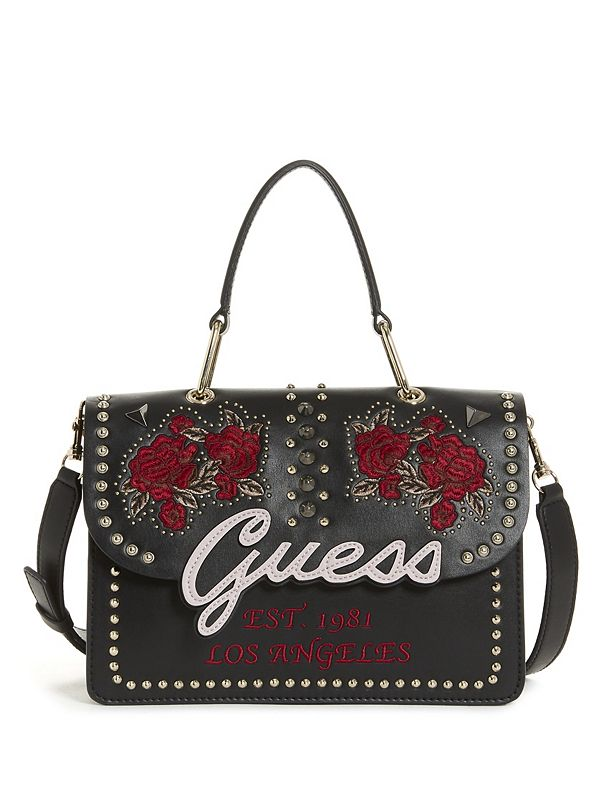 mx In CrossbodyGuess Embroidered Love Handle Flap Top yNn0wmPv8O