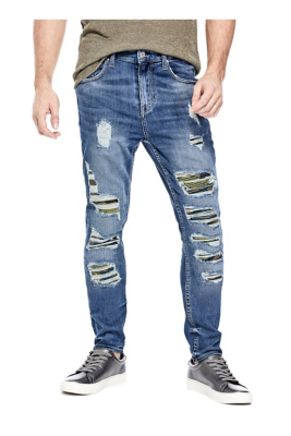 b505911431 Utility Fit Camo Destroyed Jeans