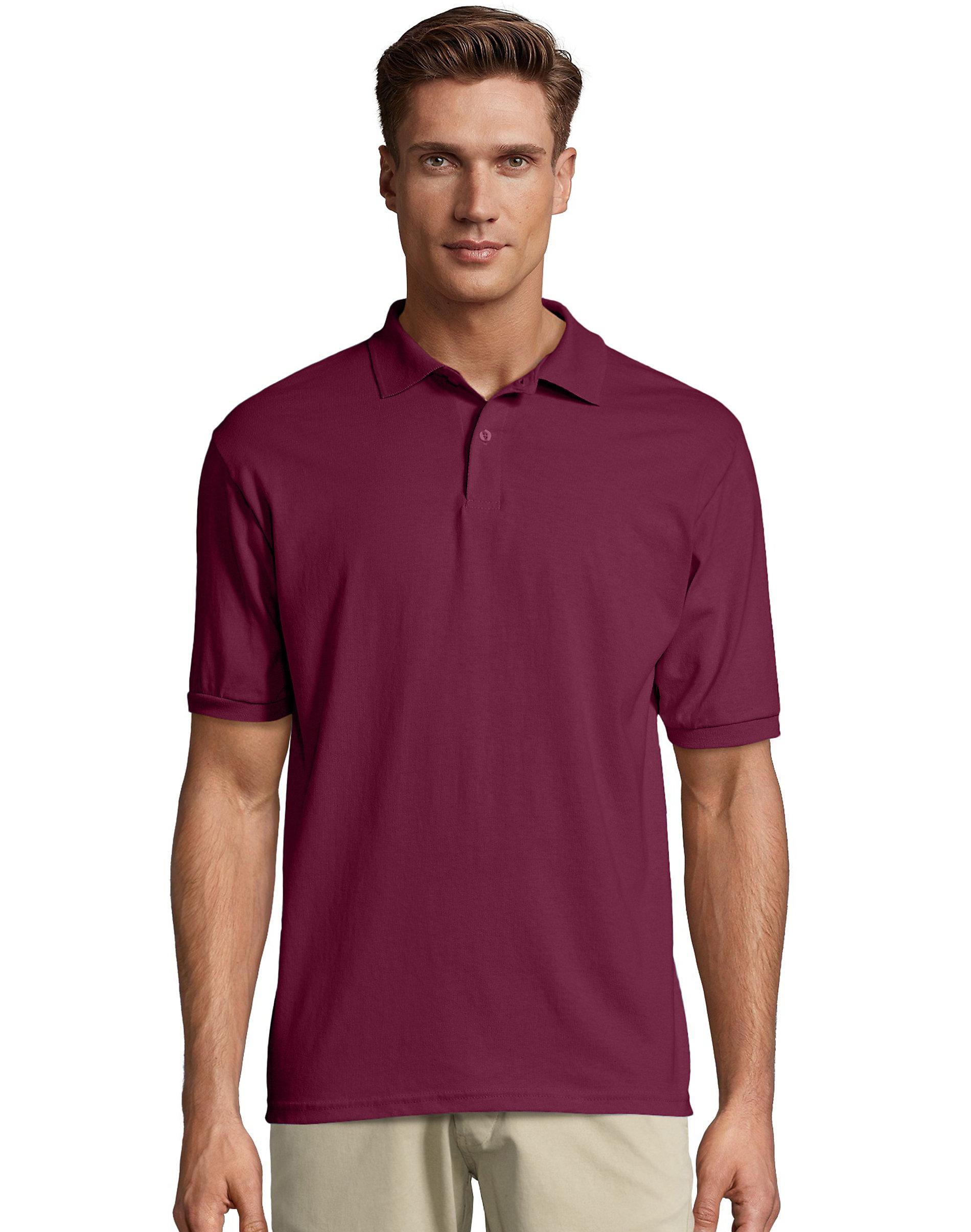 Hanes-Golf-Tee-Men-039-s-Polo-Shirt-Cotton-Blend-EcoSmart-Jersey-Men-039-s-Sport-Comfort