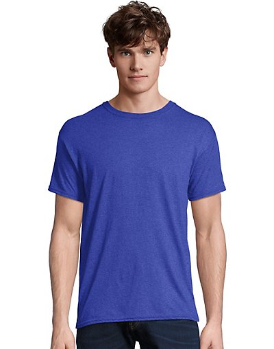 Hanes-Men-T-Shirt-Short-Sleeve-FreshIQ-X-Temp-Tri-Blend-Performance-Crewneck-Tee thumbnail 4