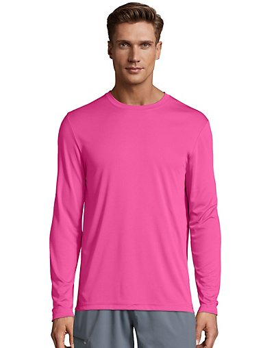 Hanes-Men-039-s-Long-Sleeve-T-Shirt-Men-Cool-DRI-Performance-Athletic-Wicking-XS-3XL