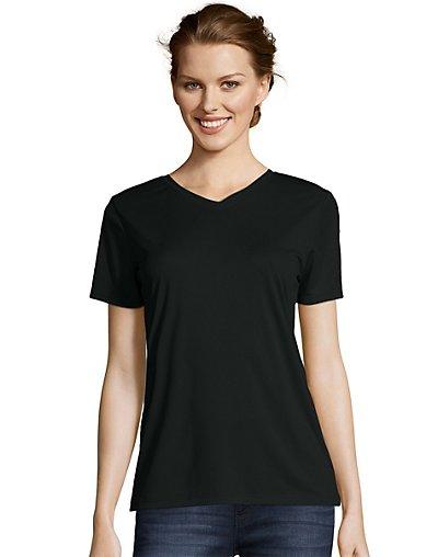 Hanes-Women-039-s-Cool-DRI-T-Shirt-V-Neck-Top-Performance-Contemporary-Fit-Tee-S-3XL thumbnail 3
