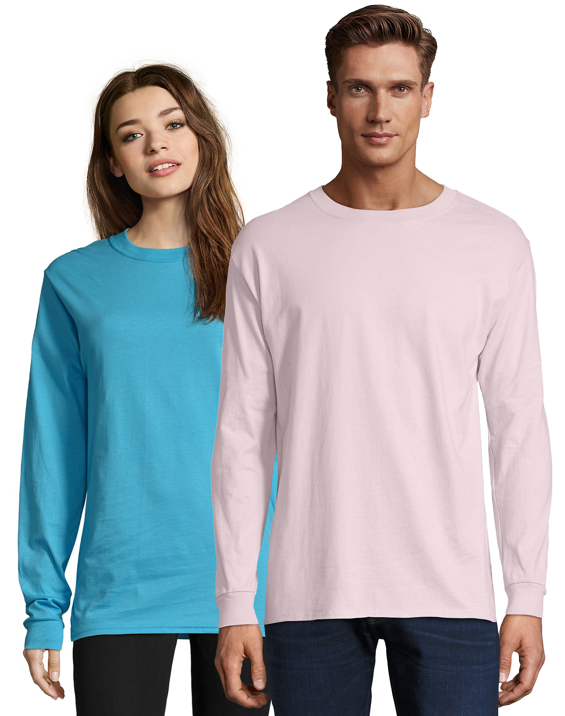 Hanes-Long-Sleeve-T-Shirt-100-Cotton-Adult-Beefy-Tee-Thicky-Heavy-S-3XL-5186