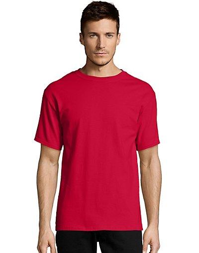 Hanes-Mens-T-Shirt-Comfort-Soft-100-Cotton-Short-Sleeve-TAGLESS-Tee-Plain-Blank thumbnail 15