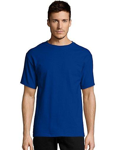 Hanes-Mens-T-Shirt-Comfort-Soft-100-Cotton-Short-Sleeve-TAGLESS-Tee-Plain-Blank thumbnail 16