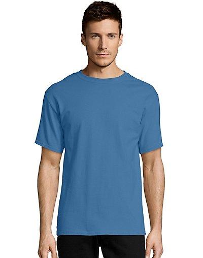 Hanes-Mens-T-Shirt-Comfort-Soft-100-Cotton-Short-Sleeve-TAGLESS-Tee-Plain-Blank thumbnail 17