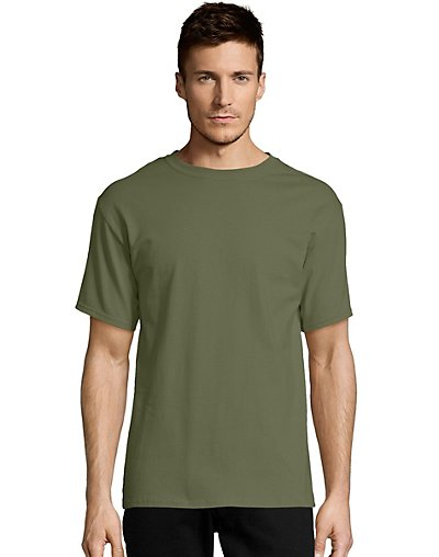 Hanes-Mens-T-Shirt-Comfort-Soft-100-Cotton-Short-Sleeve-TAGLESS-Tee-Plain-Blank thumbnail 18
