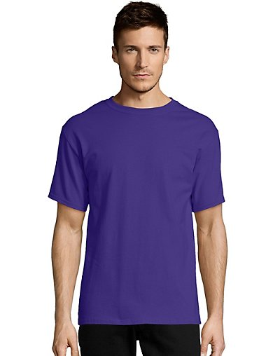 Hanes-Mens-T-Shirt-Comfort-Soft-100-Cotton-Short-Sleeve-TAGLESS-Tee-Plain-Blank thumbnail 31