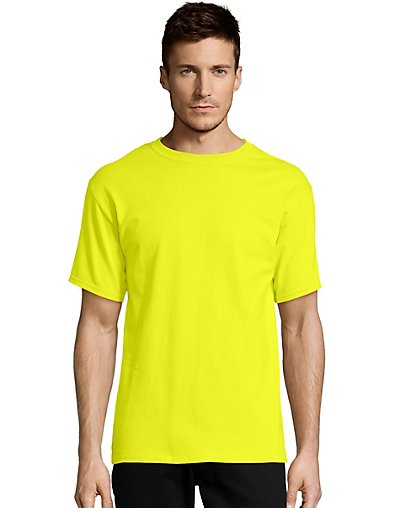 Hanes-Mens-T-Shirt-Comfort-Soft-100-Cotton-Short-Sleeve-TAGLESS-Tee-Plain-Blank thumbnail 32