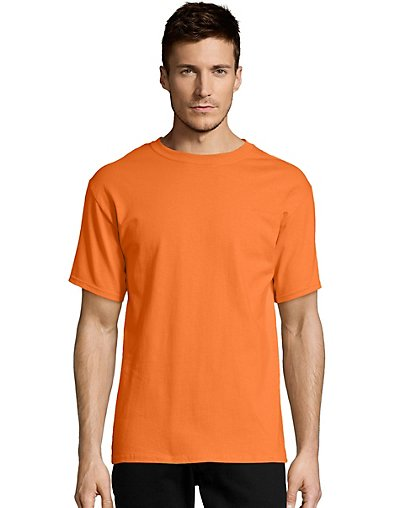 Hanes-Mens-T-Shirt-Comfort-Soft-100-Cotton-Short-Sleeve-TAGLESS-Tee-Plain-Blank thumbnail 33