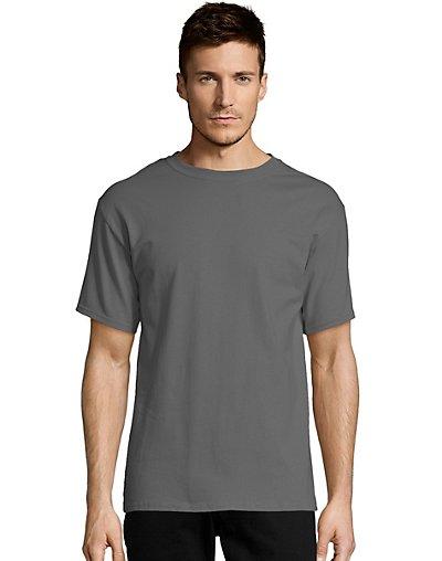 Hanes-Mens-T-Shirt-Comfort-Soft-100-Cotton-Short-Sleeve-TAGLESS-Tee-Plain-Blank thumbnail 37