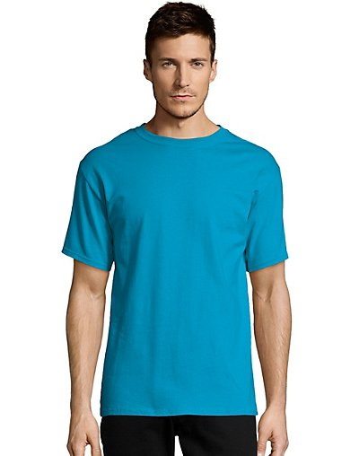 Hanes-Mens-T-Shirt-Comfort-Soft-100-Cotton-Short-Sleeve-TAGLESS-Tee-Plain-Blank thumbnail 40