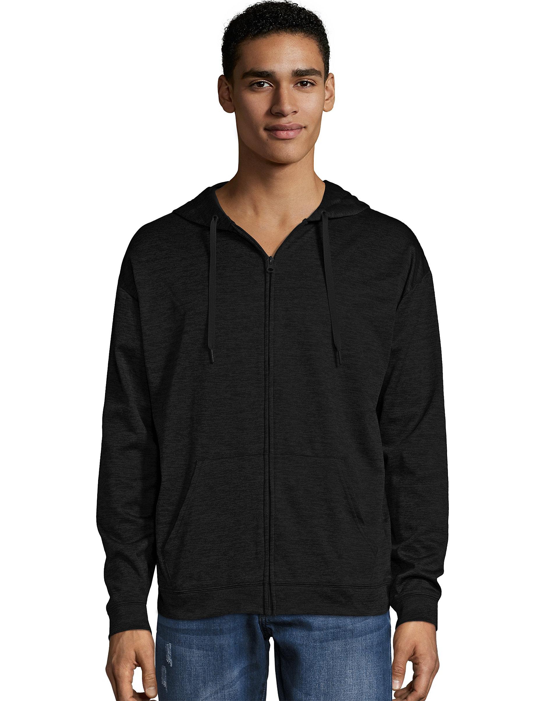 zip up hoodie sport men performance fleece