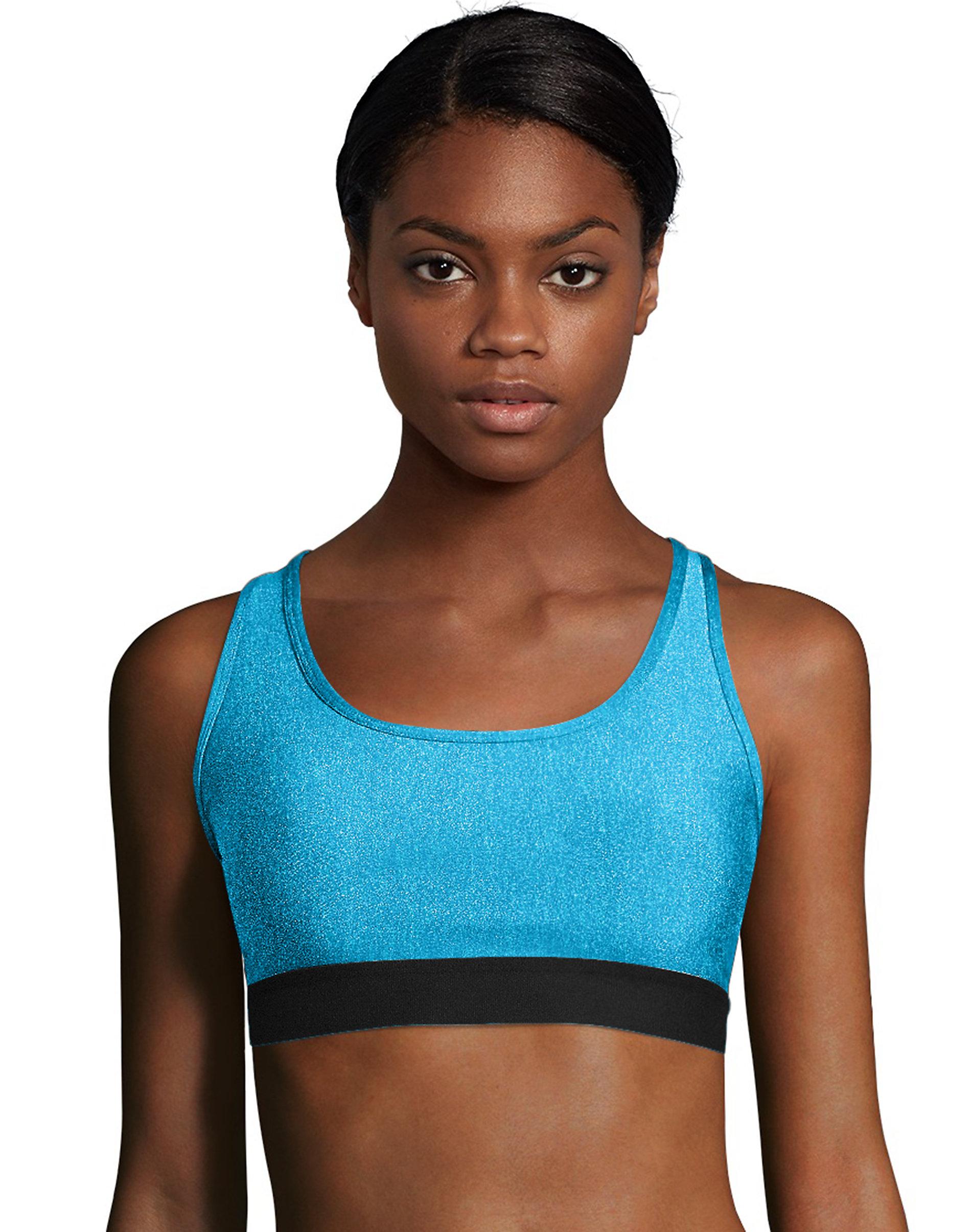 Hanes Women's Sports Bra Racerback Compression Activewear Cool Comfort Running