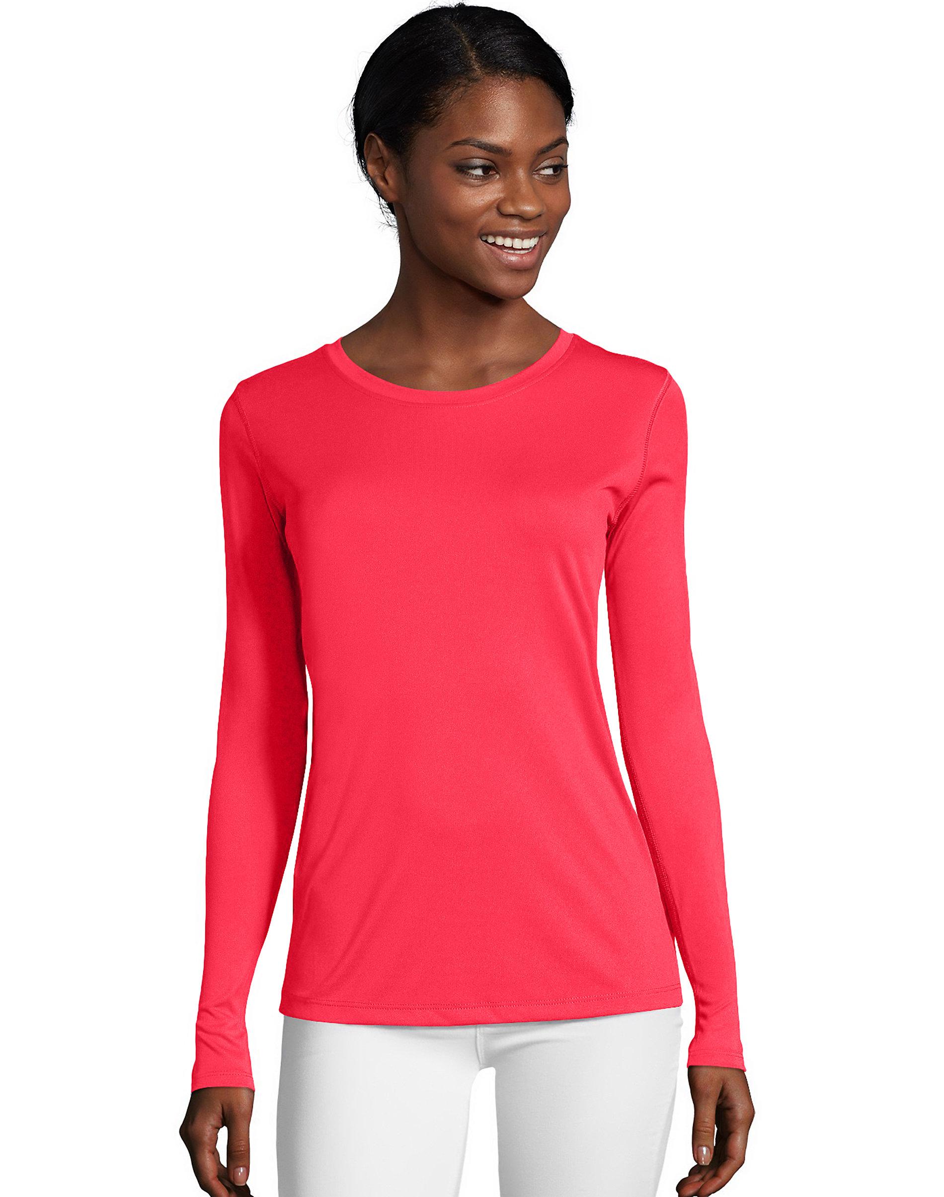 Hanes-Long-Sleeve-T-Shirt-Sport-Cool-DRI-Womens-Performance-Tee-Activewear-S-2XL thumbnail 6