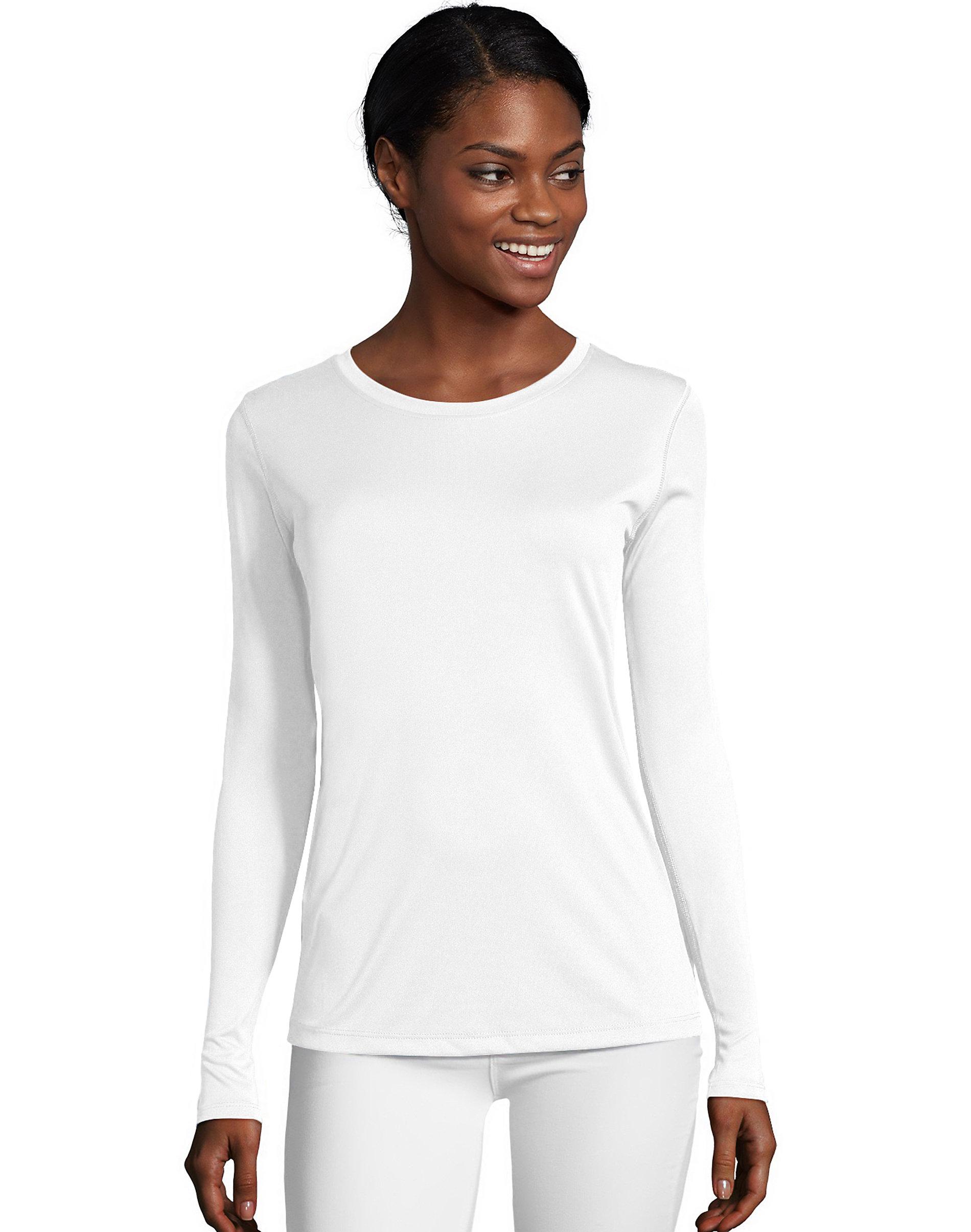 Hanes-Long-Sleeve-T-Shirt-Sport-Cool-DRI-Womens-Performance-Tee-Activewear-S-2XL thumbnail 8