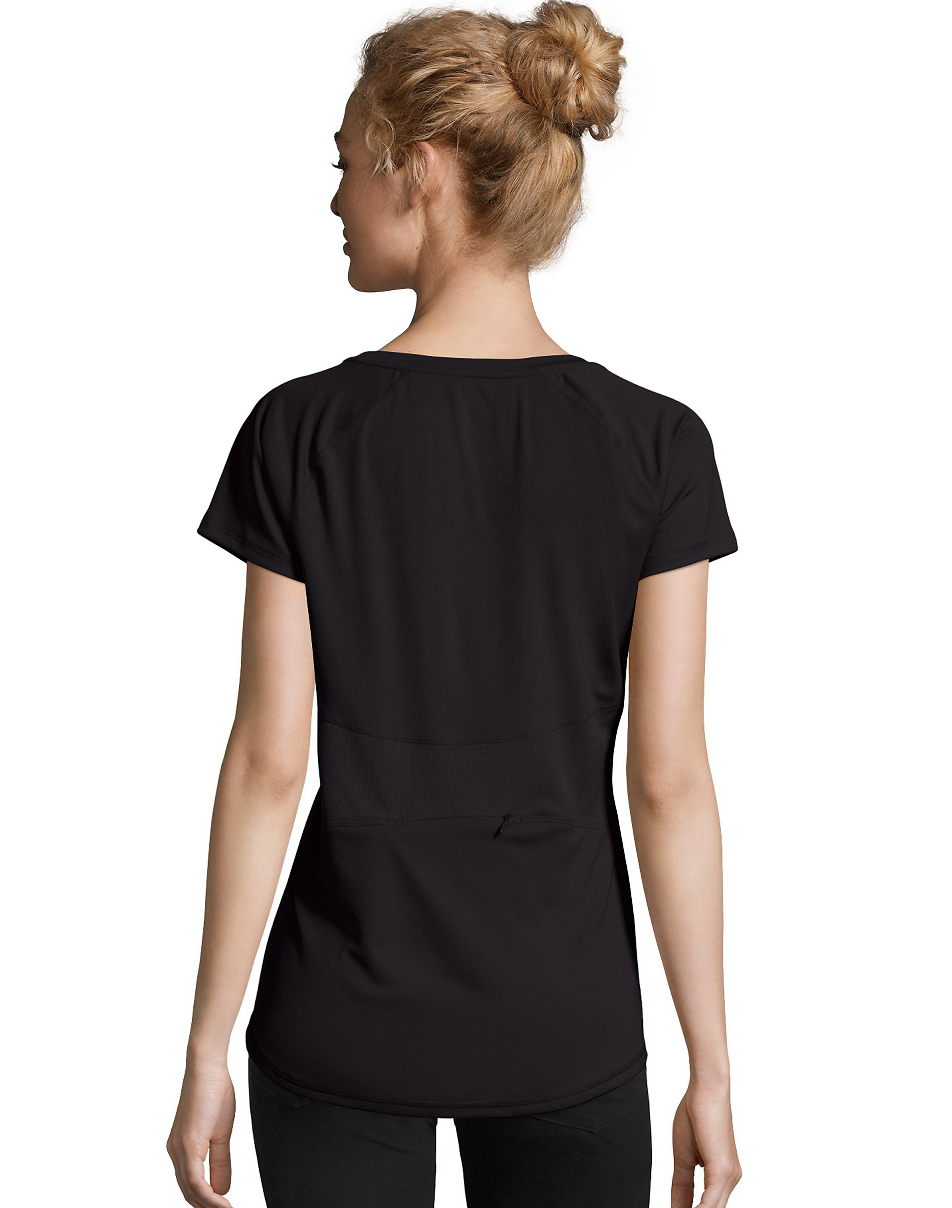 Hanes-Women-039-s-Tee-Shirt-Mesh-Insets-Performance-Sport-Cool-DRI-Comfort-Pocket thumbnail 3