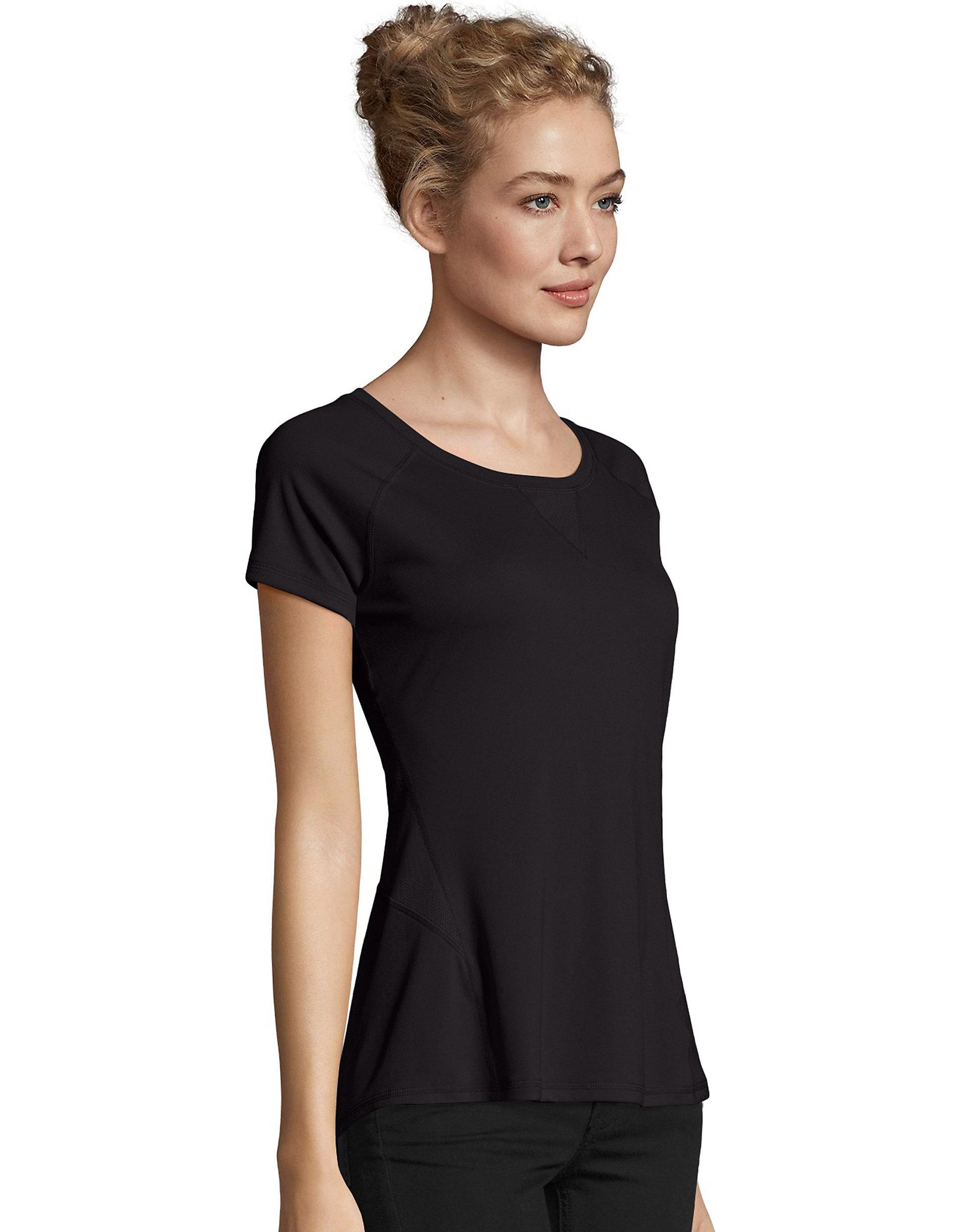 Hanes-Women-039-s-Tee-Shirt-Mesh-Insets-Performance-Sport-Cool-DRI-Comfort-Pocket thumbnail 2