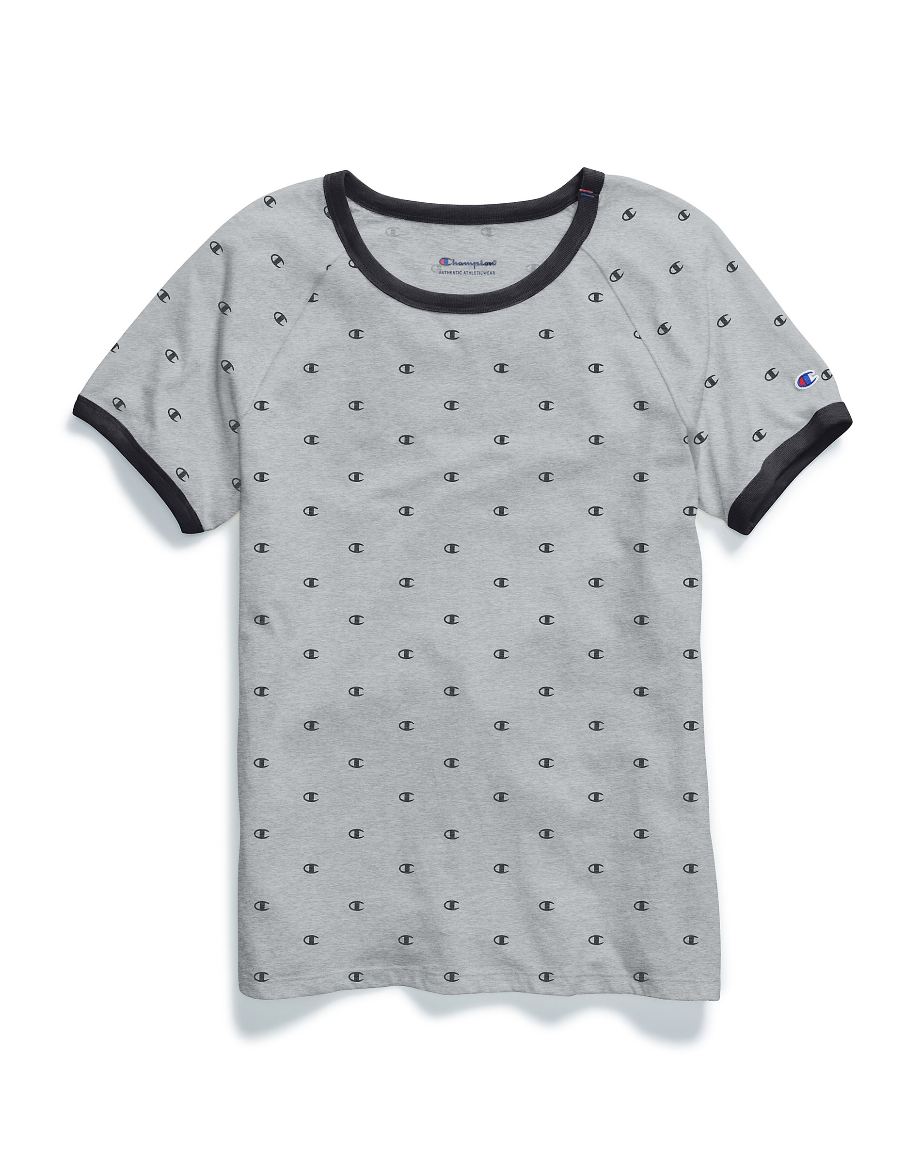 fa019faf Champion Para mujeres Mini C Logo T-Shirt patrimonio Ringer Camiseta ...