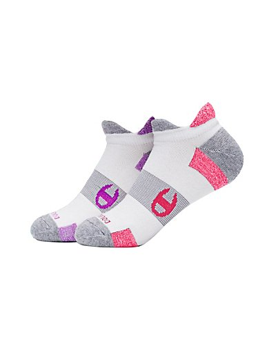 Champion CH660  Women's Double-Heel Shield Running Socks 2-Pack