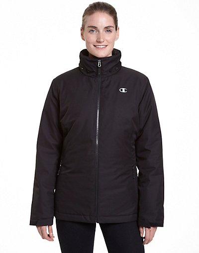 Champion CH3002PS  Women's Plus Technical Heather 3-in-1 Jacket With Microfleece Liner