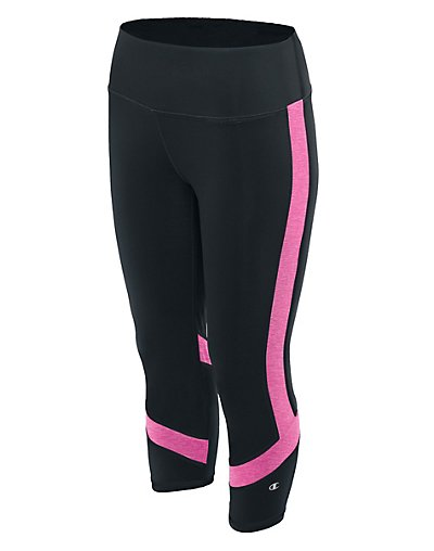 Champion M1256  Women Absolute Colorblock Capris With Smoothtec 153 Waistband