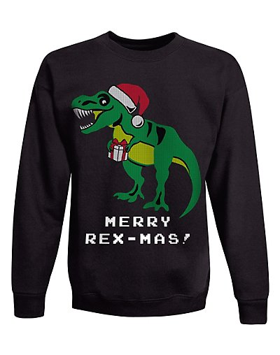 Hanes OD131  Boys Ugly Christmas Sweatshirt