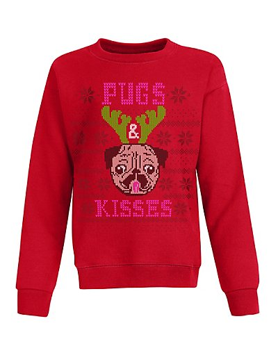 Hanes OK923  Girls Ugly Christmas Sweatshirt