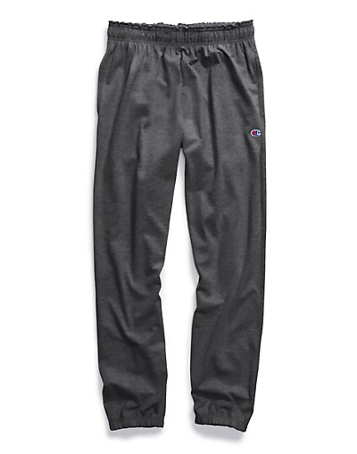 Champion P7310 407Q88  Authentic Men Closed Bottom Jersey Pants