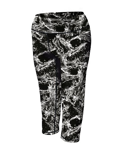 Champion QM979P  Women Plus Absolute Printed Capris With Smoothtec 153 Band
