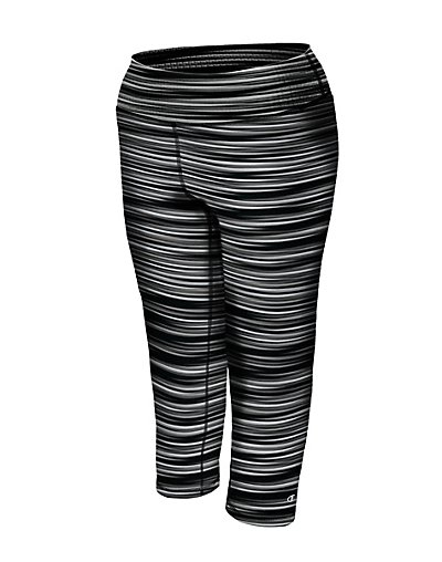 Champion QM979P  Women's Plus Absolute Printed Capris With SmoothTec™ Band