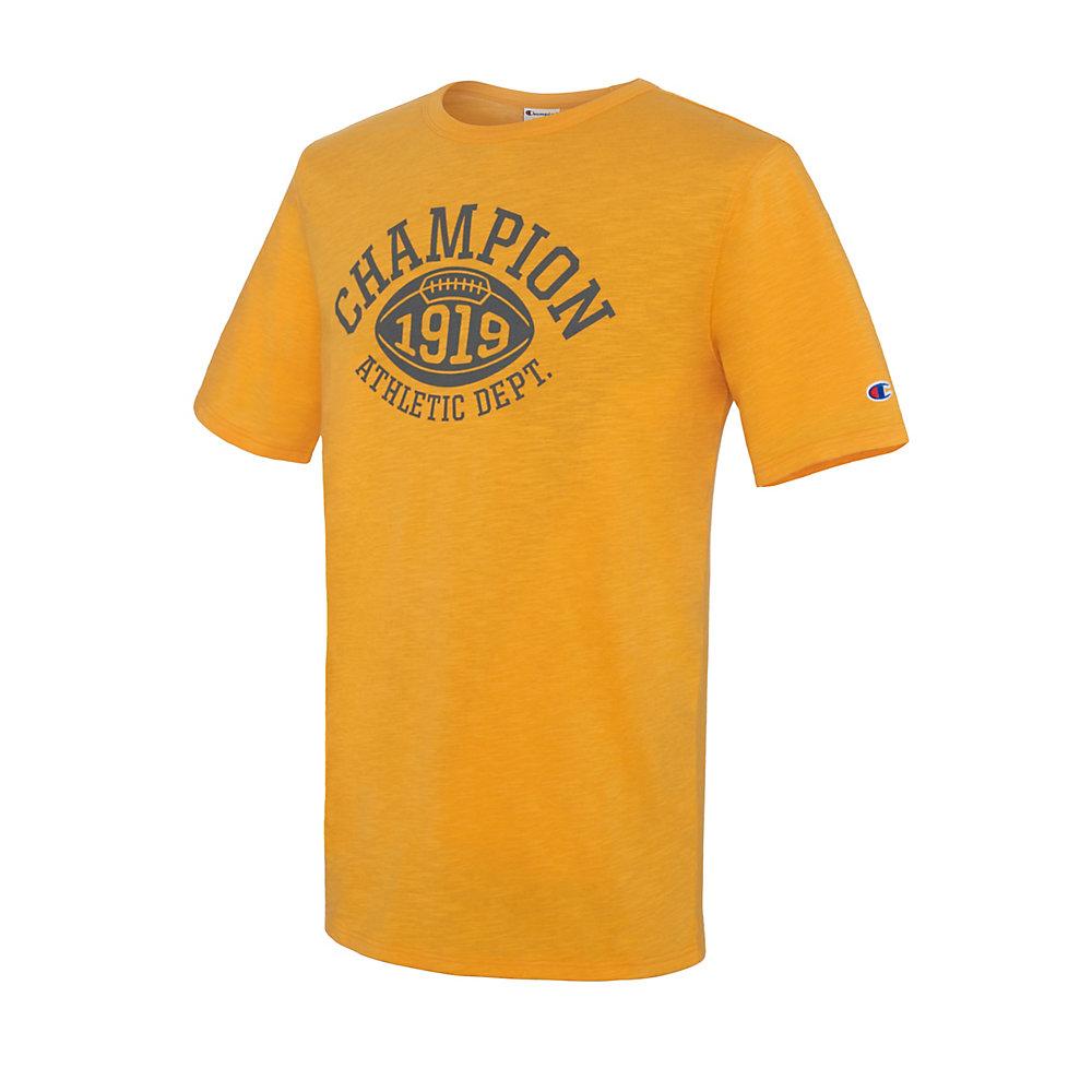 d1f8e53e7 Champion Mens Classic Jersey Script T Shirt